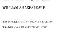 William Shakespeare - Venere e Adone. Testo originale a fronte del 1593