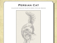 Ricamo Blackwork: Gatto Persiano - Ebook da scaricare