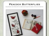 Ricamo Punto Croce e Blackwork: Farfalle Vanessa Io - Ebook da scaricare