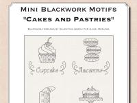 Mini motivi Blackwork: Torte e pasticcini - Ebook da scaricare