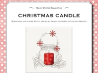 Ricamo Punto Croce e Blackwork: Candela di Natale - Ebook da scaricare