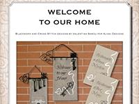 Ricamo Punto Croce e Blackwork: Benvenuti a casa nostra - Ebook da scaricare