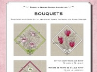 Ricamo Punto Croce e Blackwork: Bouquets - Ebook da scaricare