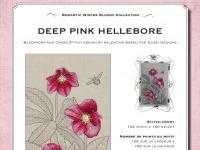 Ricamo Punto Croce e Blackwork: Elleboro rosa intenso - Ebook da scaricare