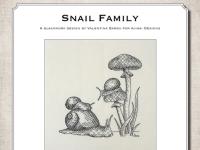 Ricamo Blackwork: Famiglia di chiocciole – Ebook da scaricare