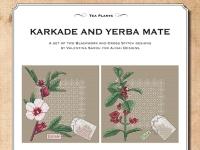 Ricamo Punto Croce e Blackwork: Karkadè e Yerba Mate – Ebook da scaricare