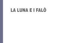 Cesare Pavese - La luna e i falò - per ipovedenti