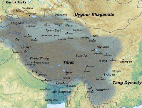 Il Tibert e l'area Himalayana nei secoli VIII e IX