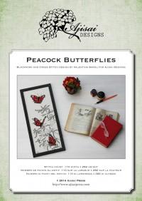 Ricamo Punto Croce e Blackwork: Farfalle Vanessa Io