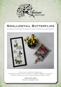Ricamo Punto Croce e Blackwork: Farfalle Macaone