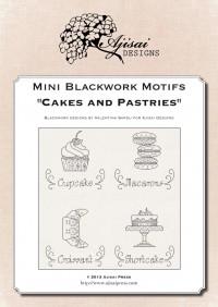 Mini motivi Blackwork: Torte e pasticcini<br /> Ebook da scaricare