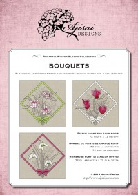 Ricamo Punto Croce e Blackwork: Bouquets<br /> Ebook da scaricare