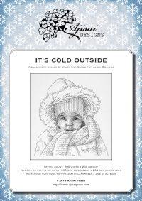 Ricamo Blackwork: It's cold outside – Ebook da scaricare