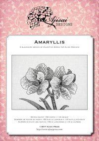 Valentina Sardu <br />Ricamo Blackwork: Amaryllis <br/>Ebook da scaricare