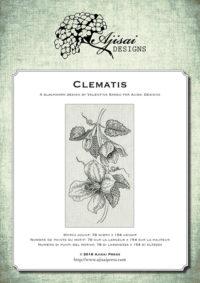 Valentina Sardu <br/>Ricamo Blackwork: Clematis <br/>Ebook da scaricare