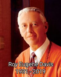 Lutto per la scomparsa di Roy Eugene Davis